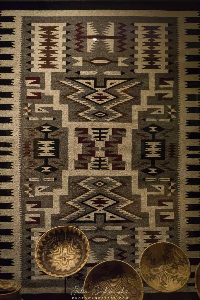 Ковер и корзины индейцев навахо. В гостях у индейцев