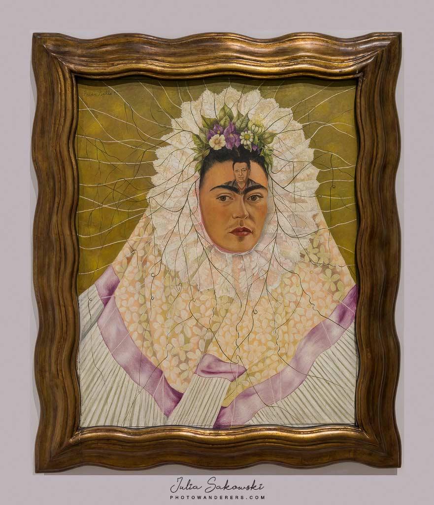 Фрида Кало, Диего в мыслях (Автопортрет в образе Техуаны), 1940-1943 | Frida Kahlo, Diego in my mind (Self-portrait as Tehuana)