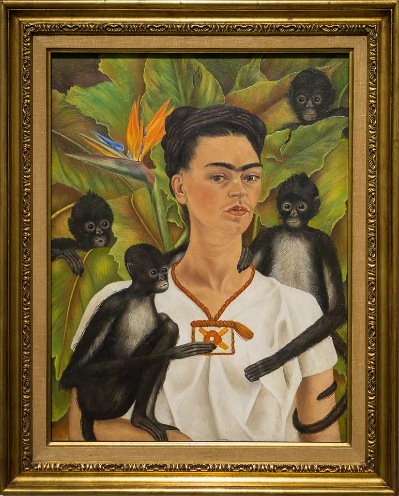 Автопортрет с обезьянками | Self-portrait with monkeys by Frida Kahlo, 1943