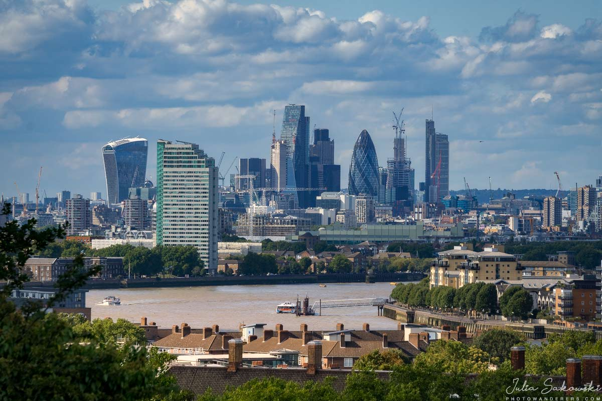 Вид на Сити из Гринвичской обсерватории | The City view from Greenwich Observatory