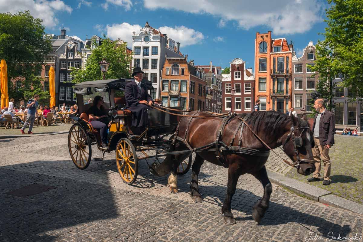 Карета на мосту Торенслёйс (Torensluis Bridge), Амстердам