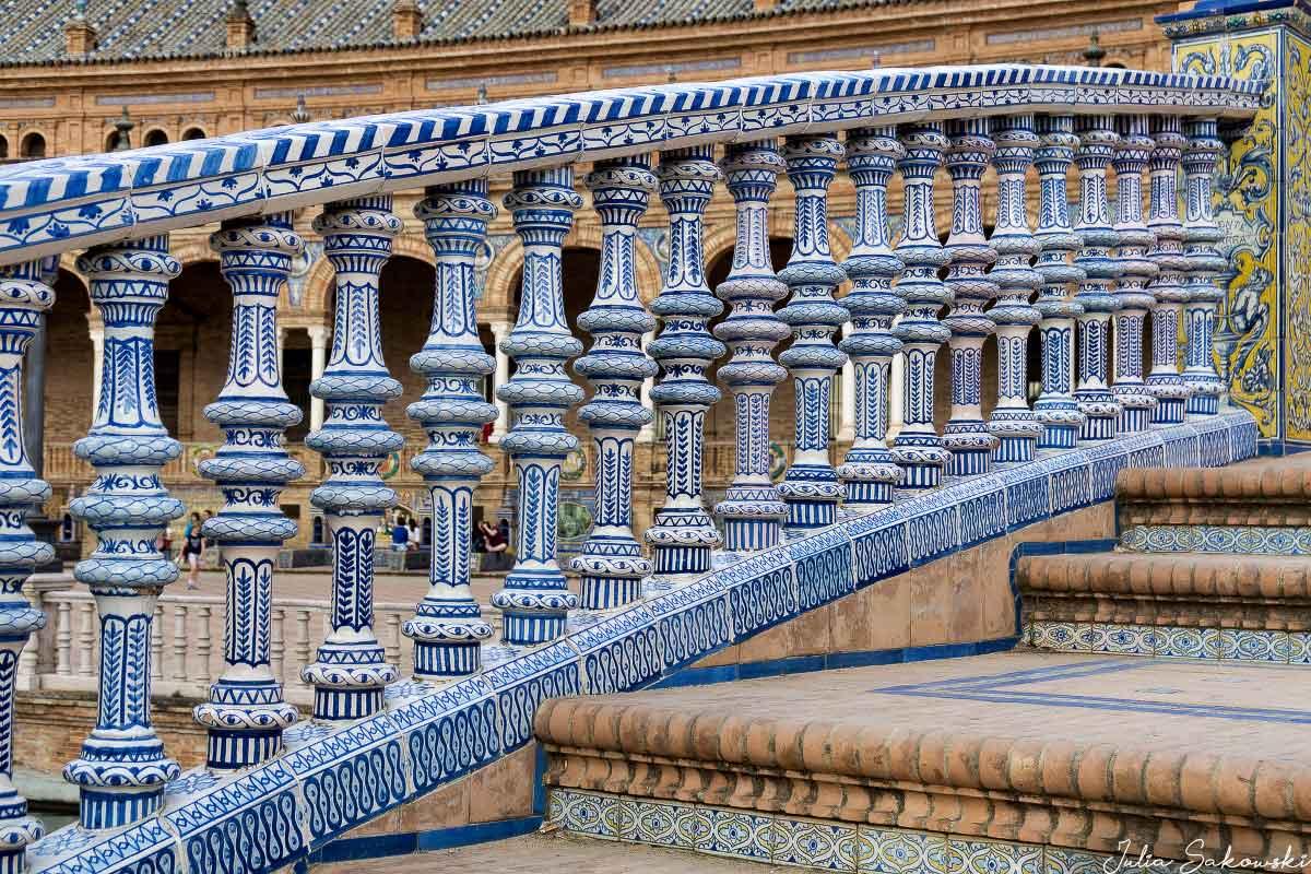 Изразцы, Площадь Испании, Севилья | Bright tiles, Plaza de Espana, Sevilla