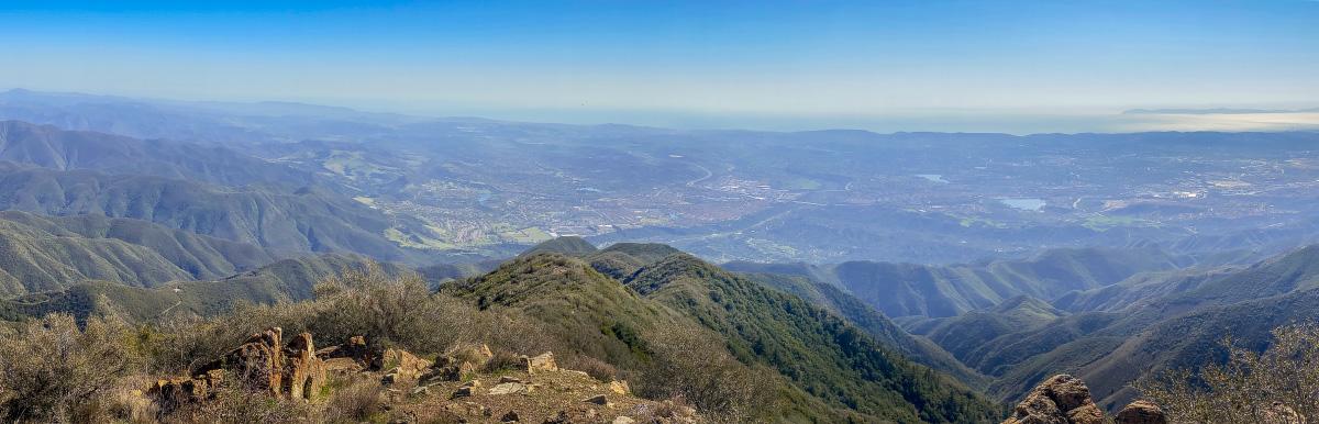 Вид с горы Сэддлебек, Калифорния