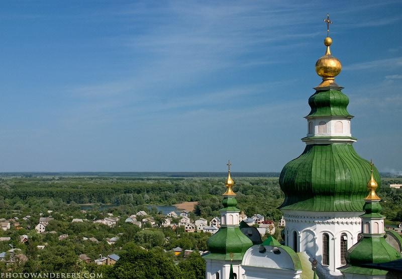 Купола Троицкого собора. Чернигов