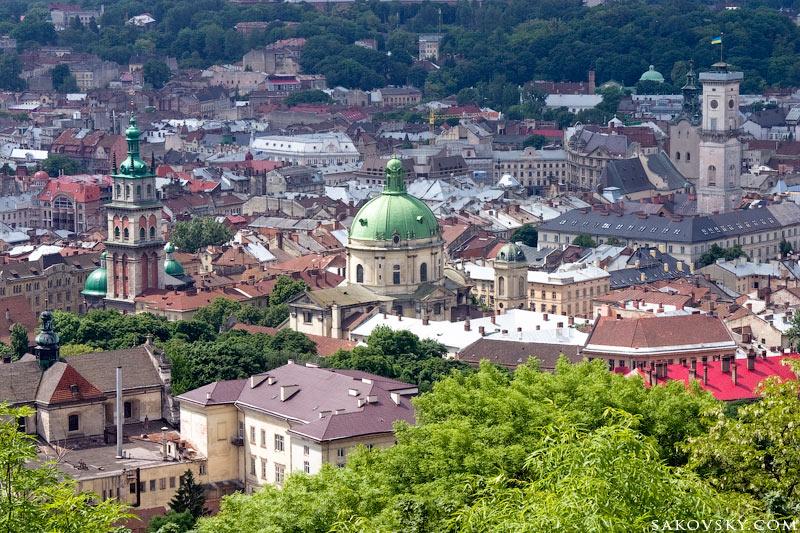 Панорама Львова с Высокого замка