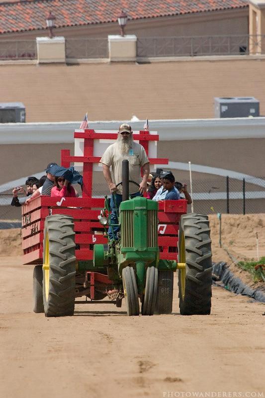 Прогулочный трактор с повозкой