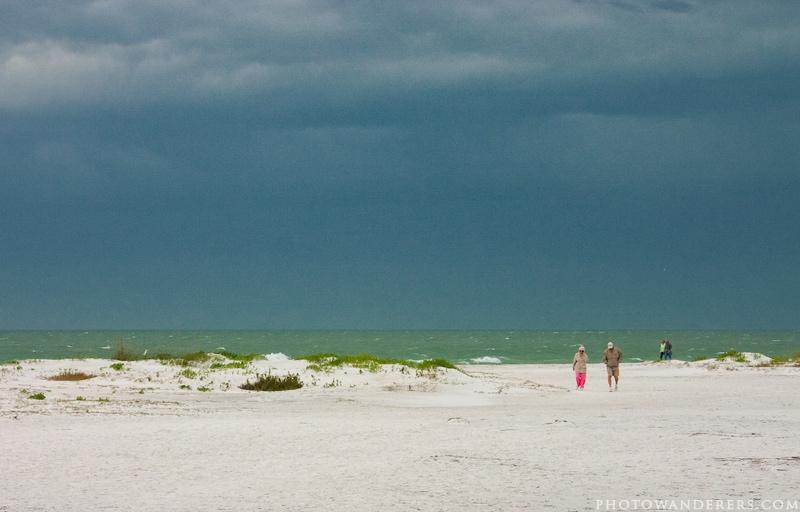 Затишье перед штормом, пляж Десото, Флорида