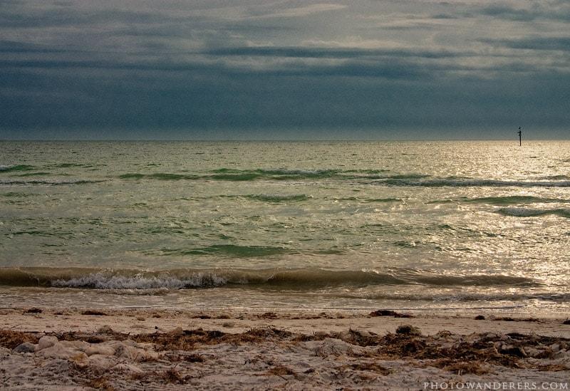 После шторма, пляж Десото, Флорида