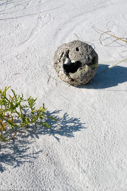 Загадочный шар на острове Каладези, Caladesi Island, Florida