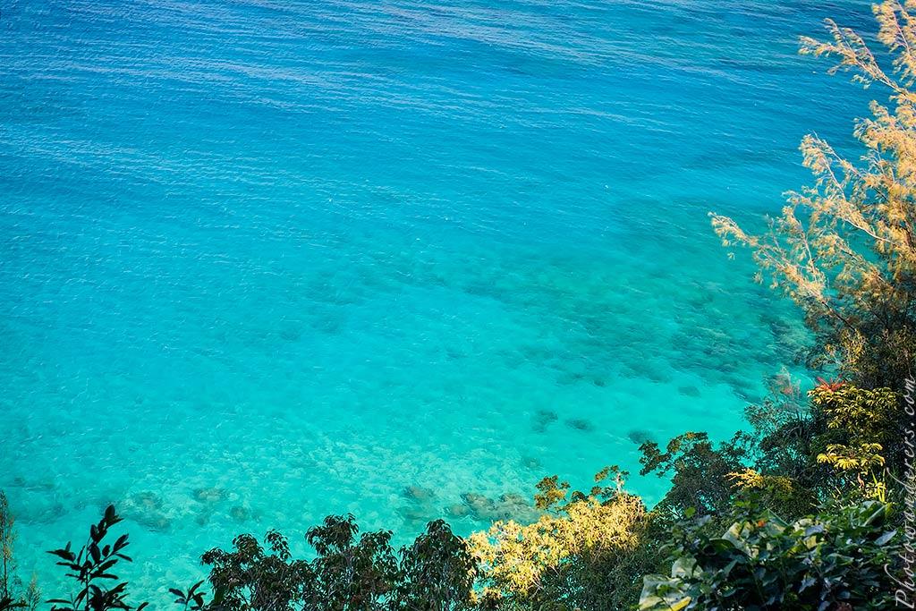 Бирюзовые воды пляжа Ки-Бич, Кауаи | Turquoise waters on Ke'e Beach, Kauai
