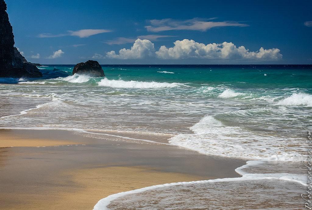 Так и тянет окунуться, пляж Ханакапии, Кауаи, Гавайи | Inviting waters, Hanakapiai Beach, Kauai, Hawaii
