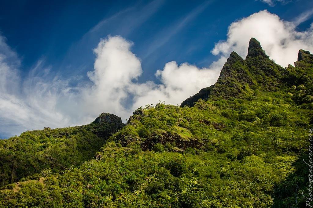 Гребни с тропы Калалау, Кауаи, Гавайи   Ruffs from Kalalau Trail, Kauai, Hawaii
