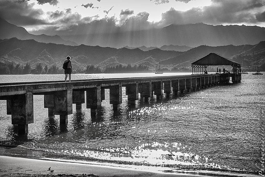 Пирс в бухте Ханалеи, Кауаи | The Perfect Pier, Hanalei Bay, Kauai,