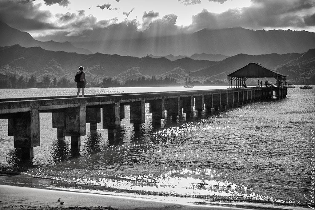 Пирс в бухте Ханалей, остров Кауаи | The Perfect Pier, Hanalei Bay, Kauai,