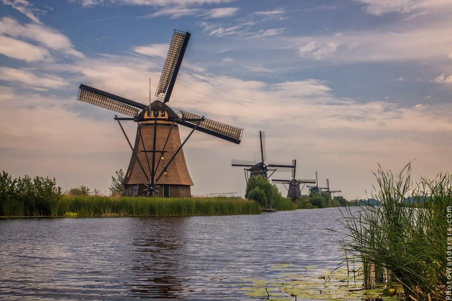 Ветряные мельницы, Киндердейк, Голландия | Windmills, Kinderdijk, Netherlands