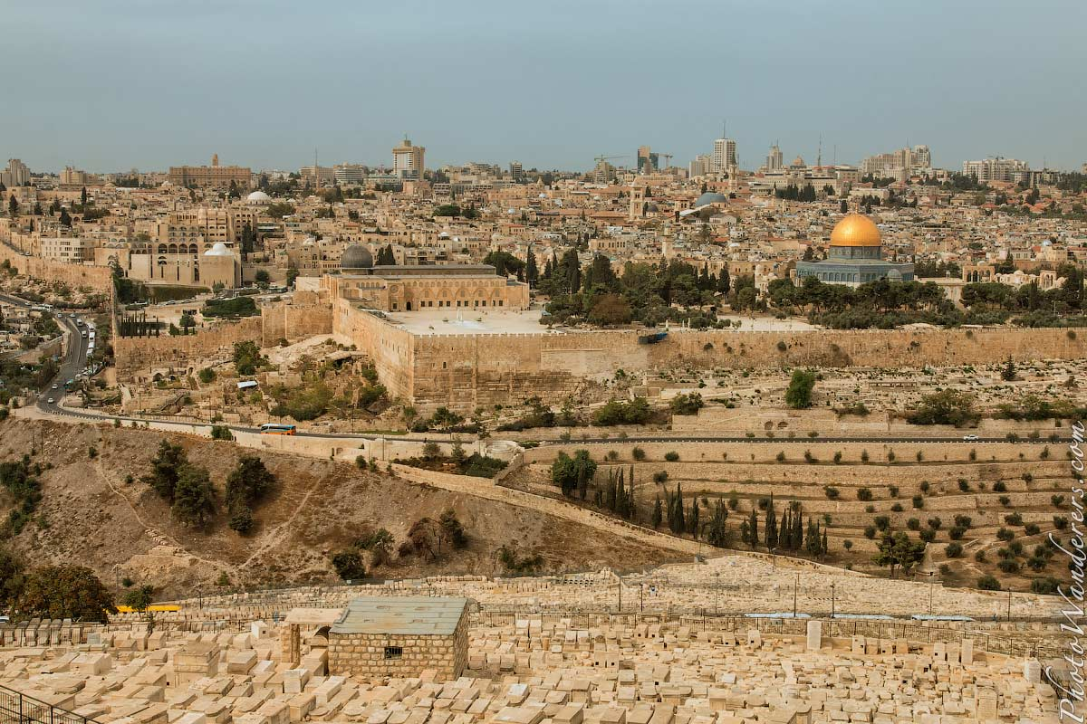 Вид на Храмовую гору и Иерисалим (View of Temple Mount and Jerusalem), Израиль