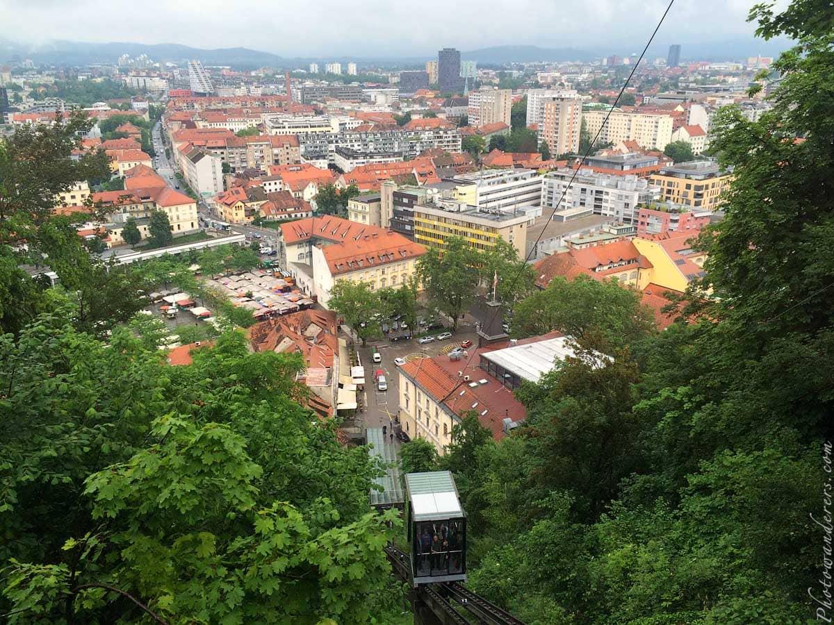 Вид с Люблянского Града, Любляна, Словения | View from Ljubljana Grad, Slovenia