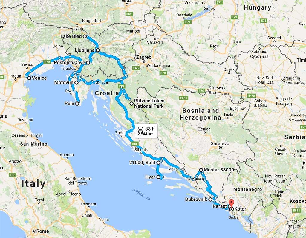 Эклектический вояж по Словении, Хорватии, Черногории, Боснии, Италии