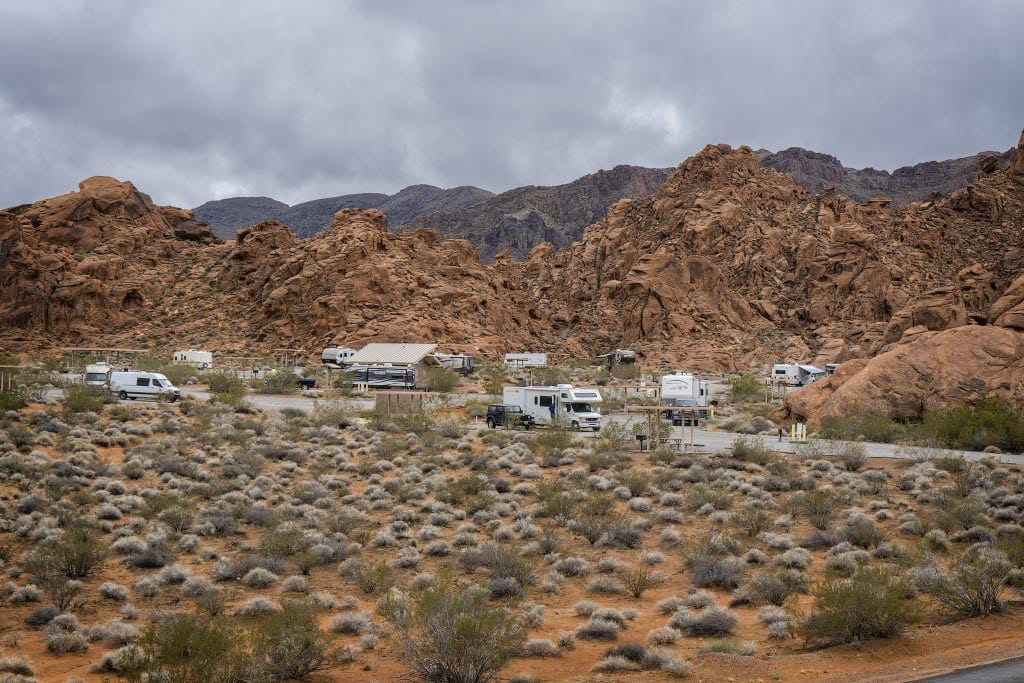 Кемпинг в Долине Огня, Невада | Campground in Valley of Fire, Nevada