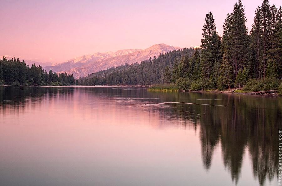 Закат на озере Хьюм, Калифорния | Sunset at Hume Lake, California