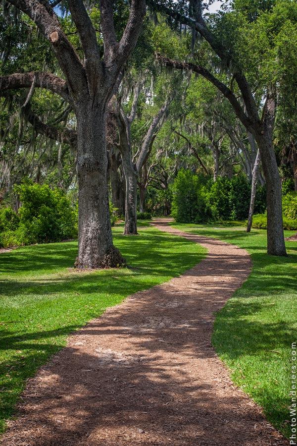 Дорожки в парке Поющей Башни