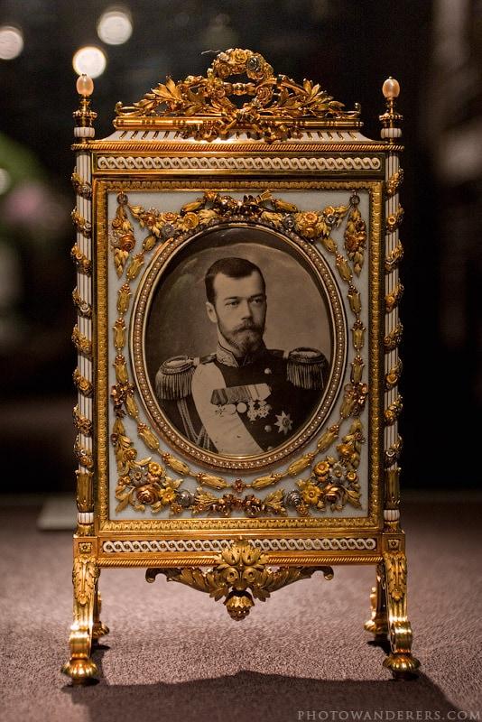Фоторамка с портретом Николая II