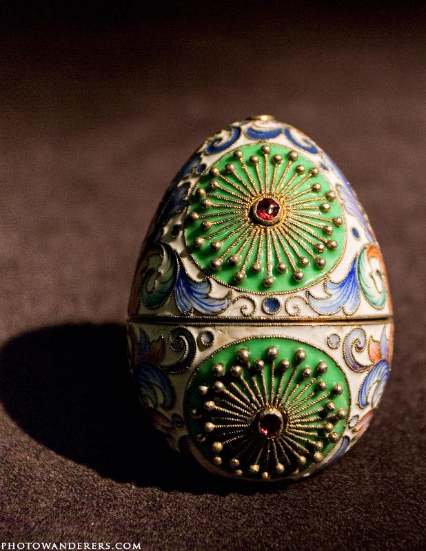 Пасхальное яйцо, эмаль, гранаты, мастерская Фаберже