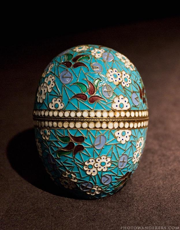 Пасхальное яйцо, голубая эмаль, золото, мастерская Фаберже