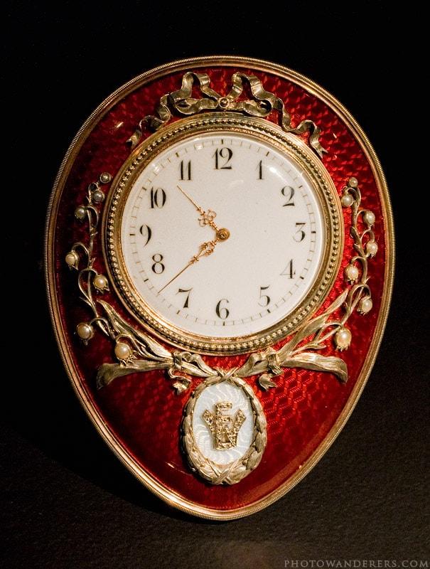 Часы с ландышами, Фаберже
