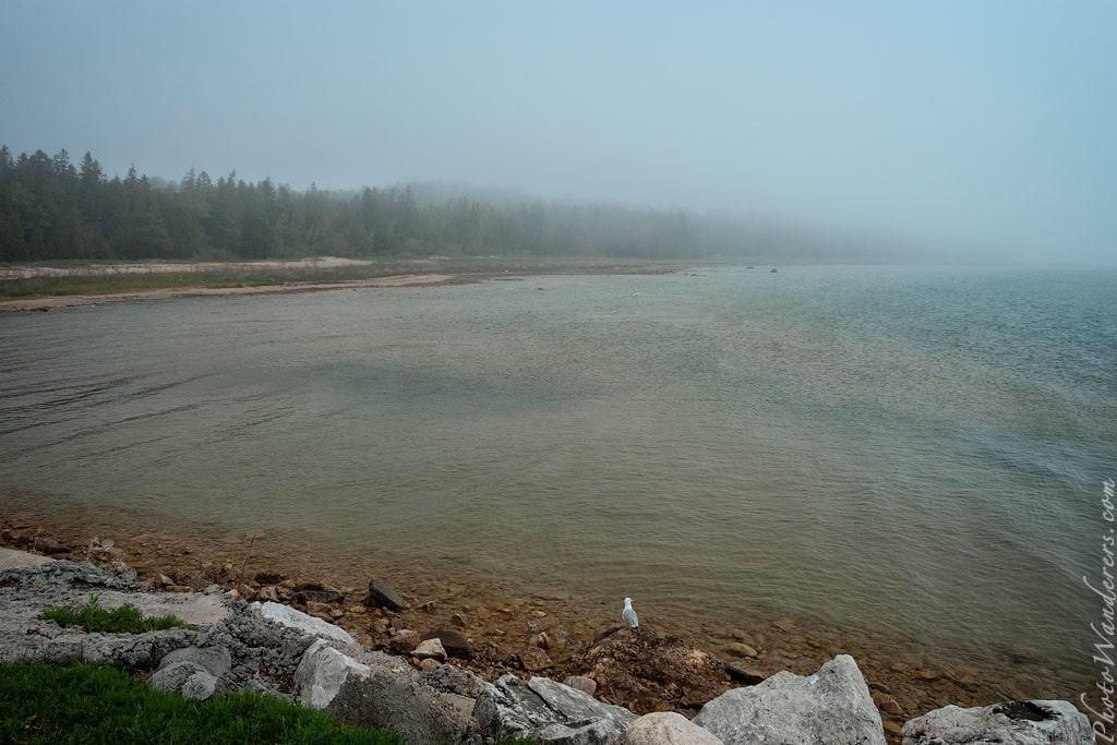 Туман над озером Гурон, Мичиган
