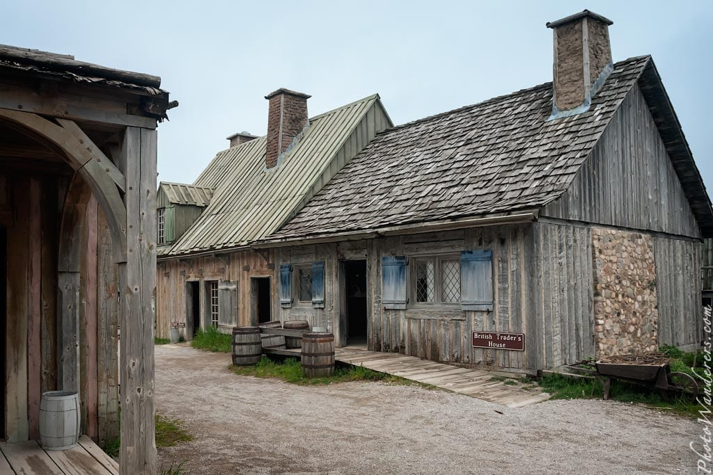 Центр пушного промысла в форте Мишилимакино (Fort Michilimackinac), Мичиган