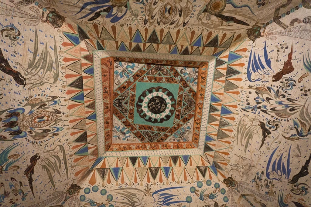 Потолок в пещере 285, 538–539 н.э. | Ceiling in cave 285, 538–539 CE