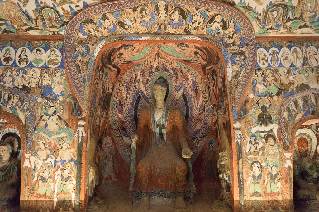 Безликое божество, пещера 285, Пещеры-храмы Дуньхуана| Faceless Deity, cave 285, 538–539 CE