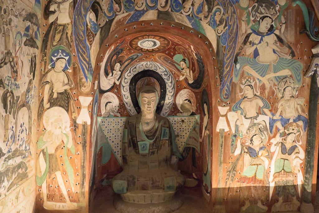 Медитирующий монах, пещера 285 | Meditating monk, cave 285, 538–539 CE