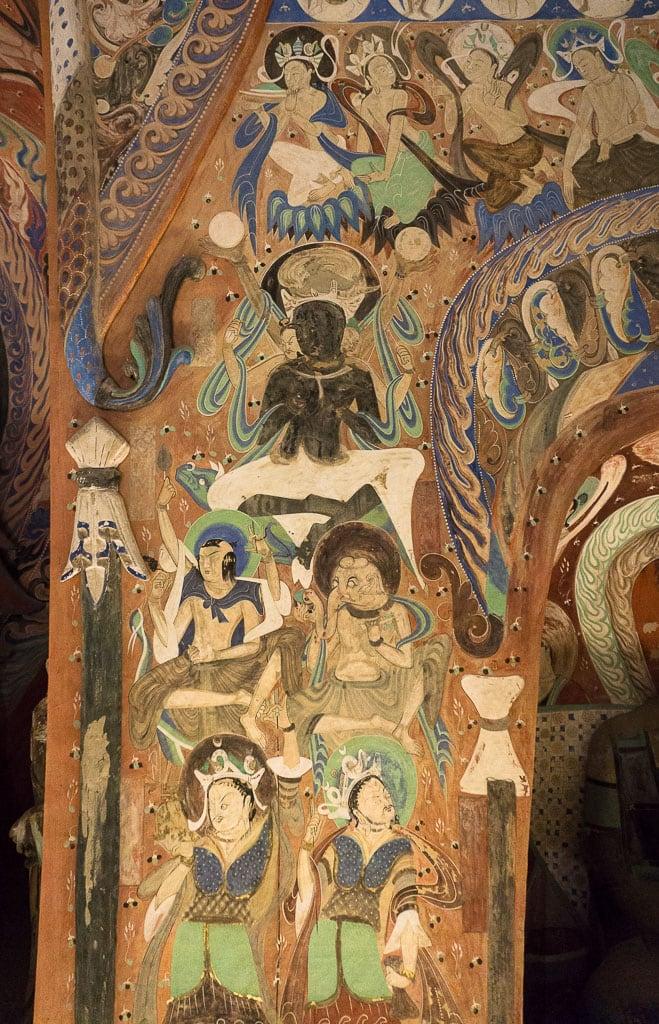 Индуистский бог Шива с сыновьями, пещера 285 | Hindu god Shiva with sons, cave 285