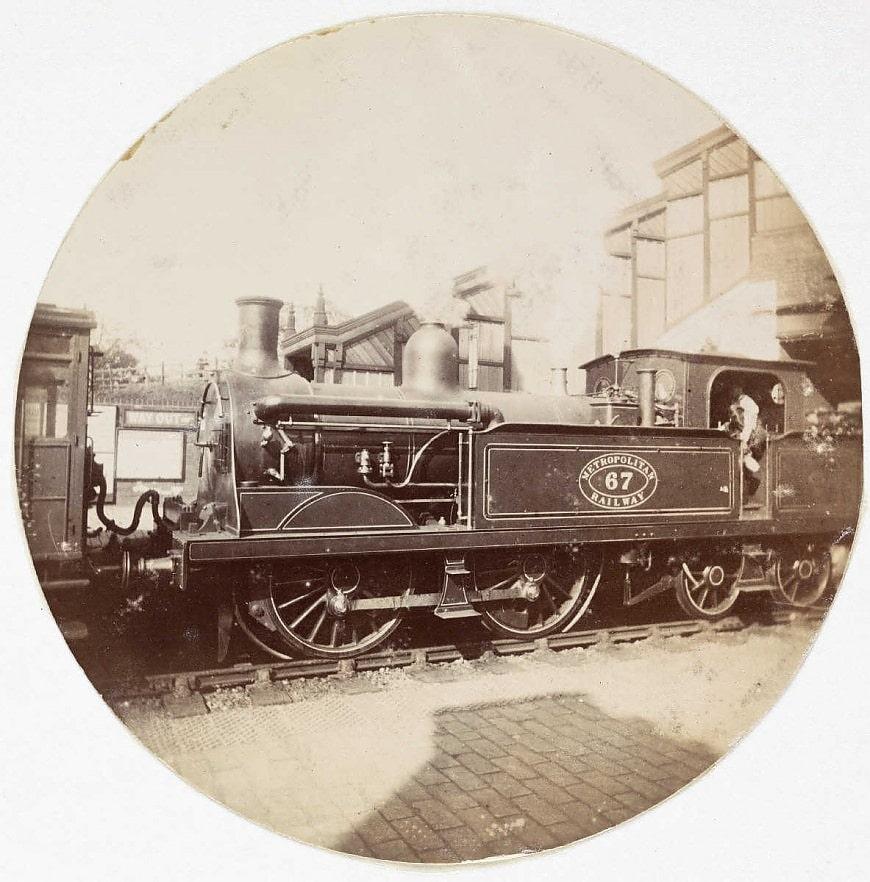 Паровоз городской железной дороги, около 1890 года