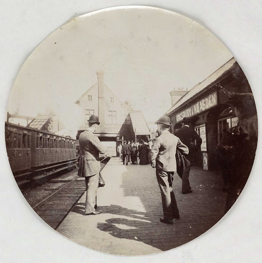Станция Кингсбери и Ниасден, около 1890 года