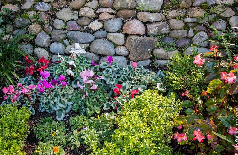 Цветник в Озерном Храме
