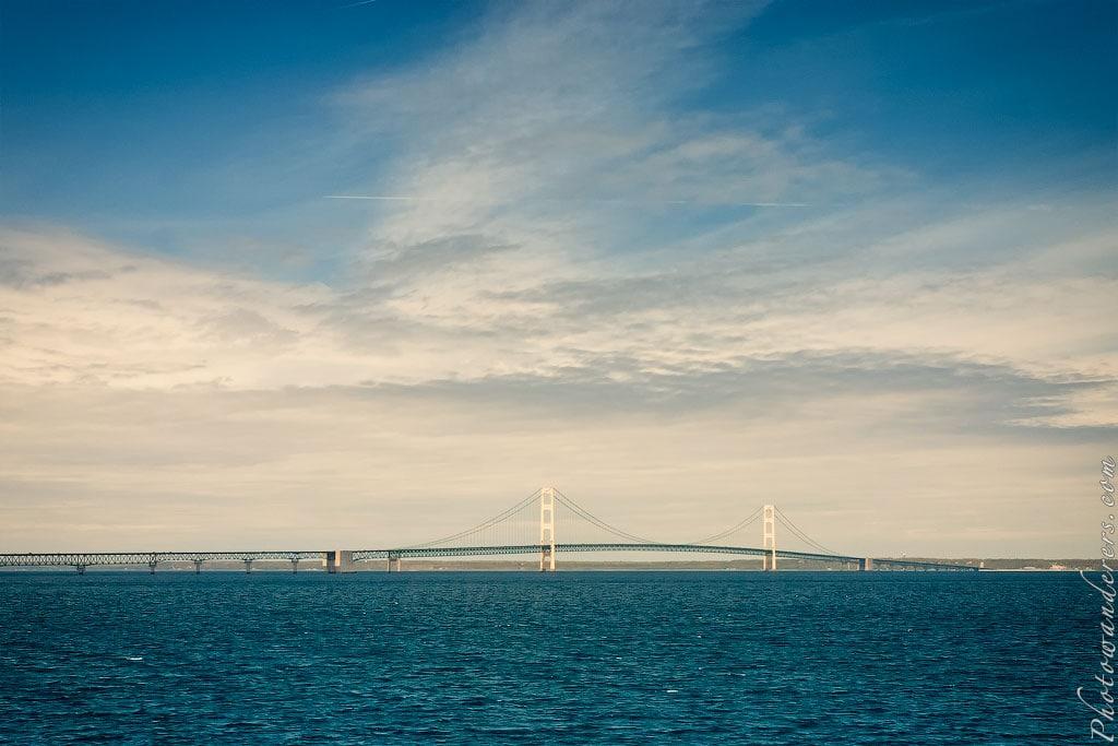 Мост Макино через пролив Макино, Мичиган | Mackinac Bridge, Michigan