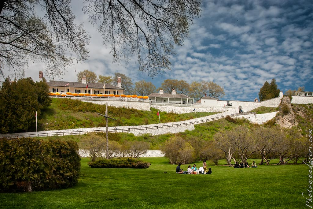 Форт Макино (1781), остров Макино, Мичиган | Mackinac Fort, Mackinac Island, Michigan