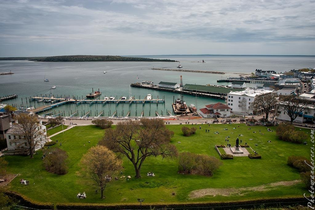 Гавань на острове Макино, Мичиган | Mackinac island harbor, Michigan