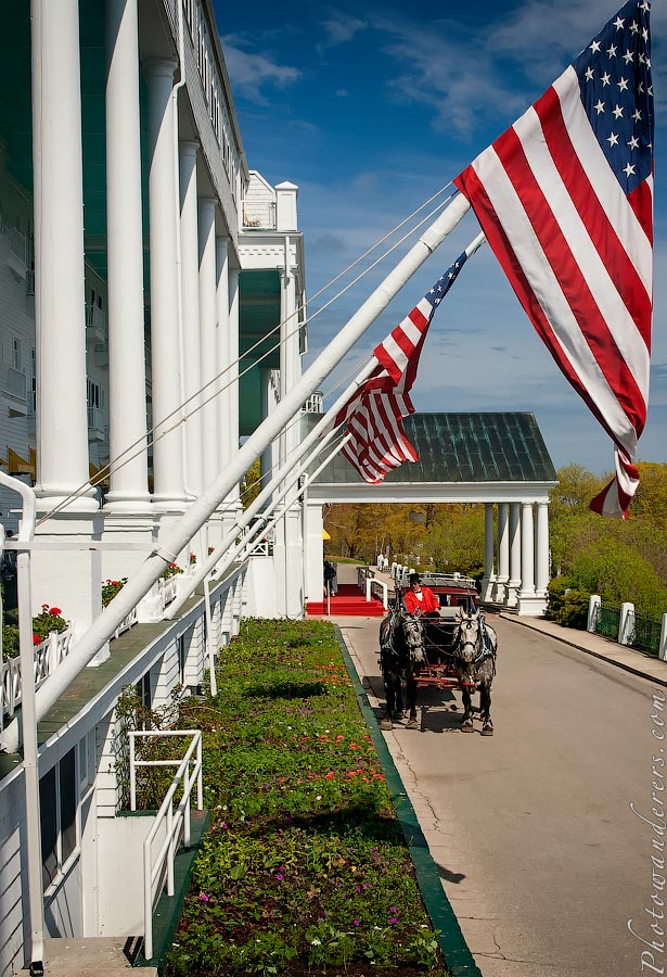 Такси на острове Макино, Мичиган | Mackinac island taxi, Michigan