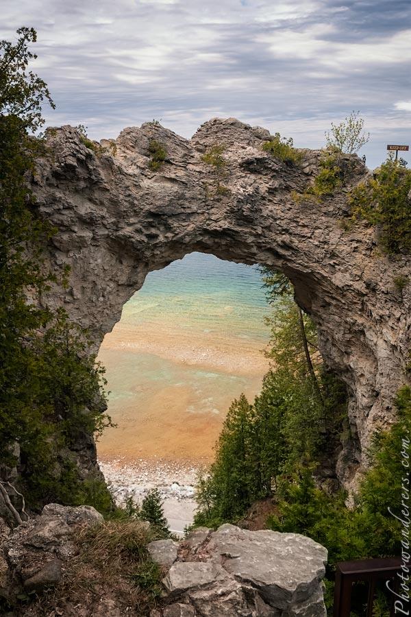 Арка, остров Макино, Мичиган | Arch Rock, Mackinac Island, Michigan