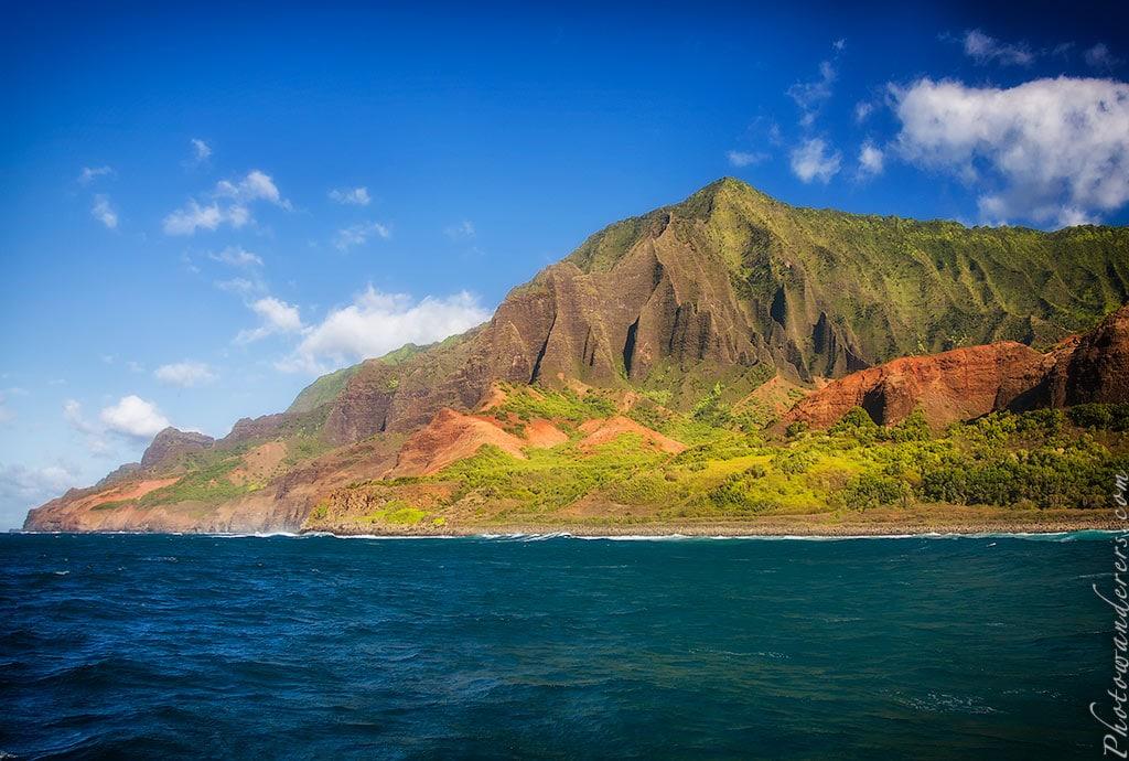 Бесконечные скалы и долины, побережье Напали, Кауаи