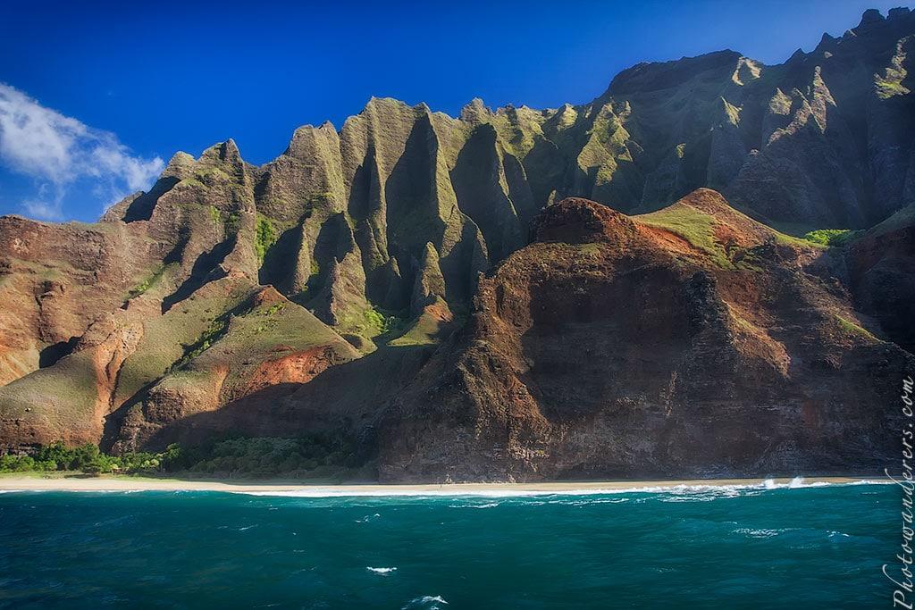 Пляж в парке Милолии, Напали, Кауаи | Milolii State Park beach, Na-pali Coast, Kauai