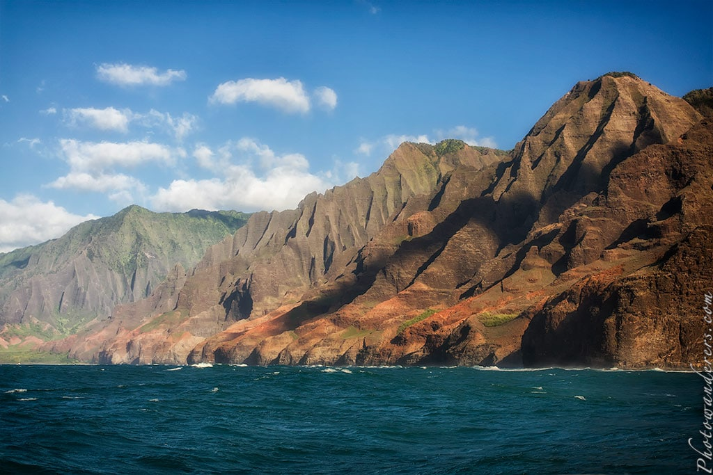 Окаменевшие каскады, побережье Напали, Кауаи, Гавайи