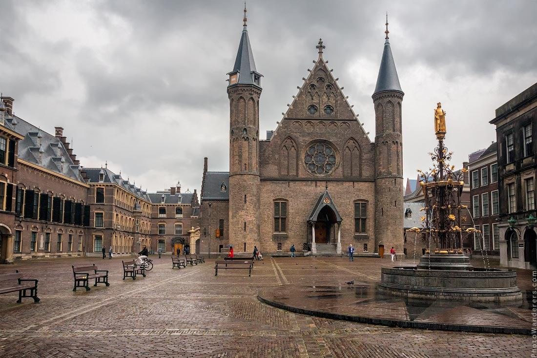 Рыцарский зал (Ridderzaal) в Бинненхоф (Binnenhof), Гаага