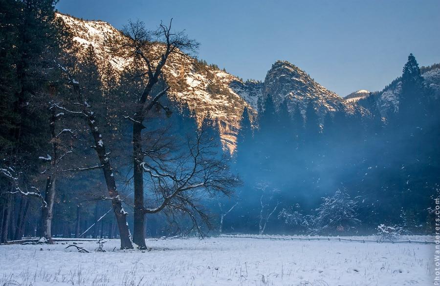 Долина Йосемити на закате