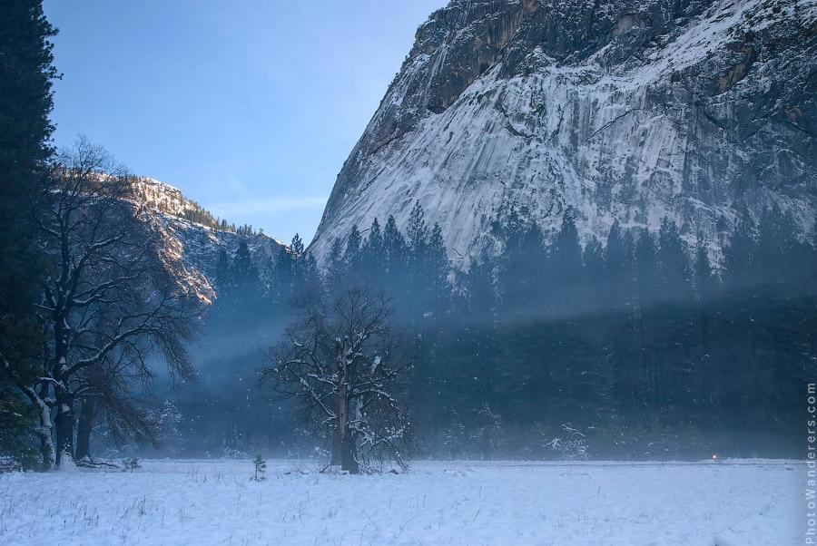 Туман над долиной Йосемити
