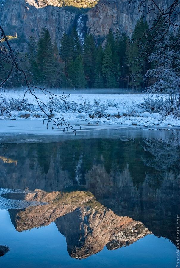 Отражения. Река Мерсед, долина Йосемити | Merced river mirror. Yosemite